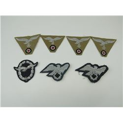 WWII GERMAN LUFTWAFFE CLOTH BADGES