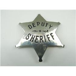 DEPUTY SHERIFF STAR BADGE
