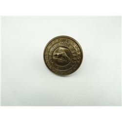 "CANADIAN MILITIA BRASS ""BEAVER"" BUTTON"