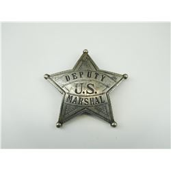 DEPUTY U.S. MARSHAL FIVE POINT STAR BADGE