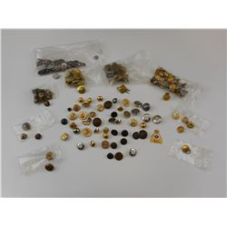ASSORTED BUTTONS & PIPS