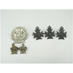 ASSORTED CANADIAN MILITARY CAP & COLLAR BADGES