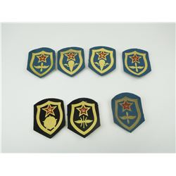 ASSORTED RUSSIAN CLOTH BADGES