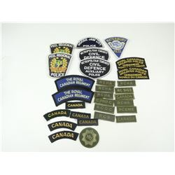 ASSORTED CANADIAN CLOTH BADGES