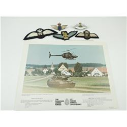 CANADIAN/BRITISH FLIGHT WINGS & CANADIAN ARMED FORCES PRINTS