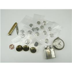ROYAL CANADIAN ARMY MEDICAL CORP BUTTONS & ASSORTED COLLECTABLE ITEMS