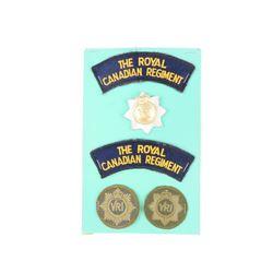 ROYAL CANADIAN REGIMENT BADGES