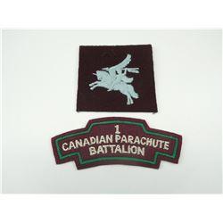 1ST CANADIAN PARACHUTE BATTALION CLOTH BADGES