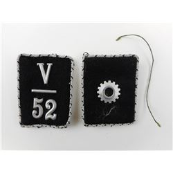 WWII GERMAN TENO OFFICER'S COLLAR PATCHES