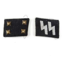 WWII GERMAN SS COLLAR PATCHES