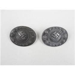 WWII GERMAN WOMEN'S LABOUR SERVICE THROAT BROCHES
