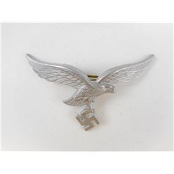 WWII GERMAN LUFTWAFFE PEAK CAP BADGE