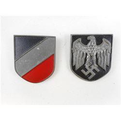 WWII GERMAN MILITARY PITH HELMET SHIELDS