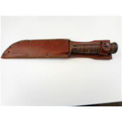 U.S.N. CAMILLUS FIGHTING/ BOWIE KNIFE WITH SHEATH