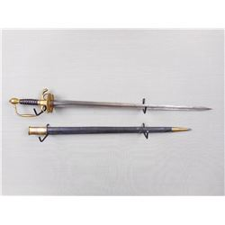 AMERICAN 1840 PATTERN CAVALRY SWORD REPRODUCTION WITH SCABBARD