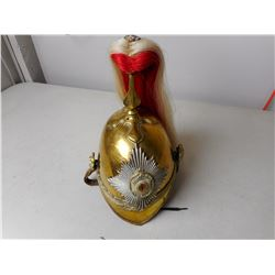 WWII ERA GOVERNOR GENERAL'S FOOT GUARDS BRASS PARADE HELMET