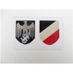 WWII GERMAN HELMET DECALS