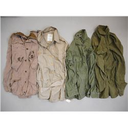 ASSORTED MILITARY SHIRTS/JACKETS