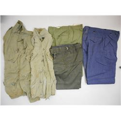 ASSORTED MILITARY SHIRTS & PANTS