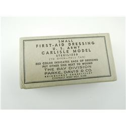 WWII U.S. ARMY CARLISLE MODEL FIRST AID DRESSING