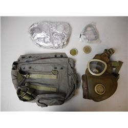 RUSSIAN SURPLUS GAS MASK WITH CARRYING CASE