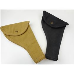 WWII CANADIAN P 37 CANVAS HOLSTERS