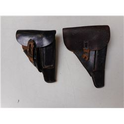 BLACK LEATHER MILITARY HOLSTERS