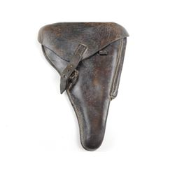 WWII GERMAN P08 LUGER LEATHER HOLSTER