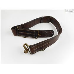 WWI MILITARY BELT WITH DOUBLE HEADED SNAKE BUCKLE