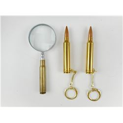 TRENCH ART: CARTRIDGE KEYCHAINS & MAGINFYING GLASS