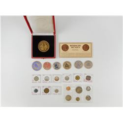 ASSORTED COINS & MEDALLIONS