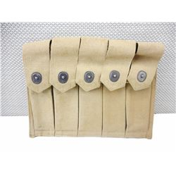 WWII U.S. MILITARY REISING OR THOMPSON SMG 5 CELL MAGAZINE POUCH