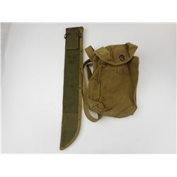 WWII U.S. MILITARY ASSORTED CANVAS/ POUCHES
