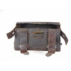 LEATHER AMMO POUCH FOR GERMAN 11MM MAUSER