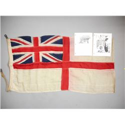 MILITARY / NAVAL BRITISH/COMMONWEALTH FLAG WITH PHOTOS