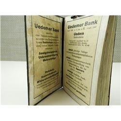 UEDEMER BANK 1935 CALENDER/GENERAL INFO BOOK