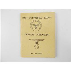 WWII GERMAN UNIFORM INSIGNIA BOOK -REPRINT