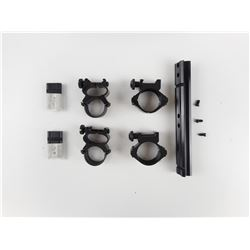 ASSORTED SCOPE RINGS AND SCOPE MOUNTS