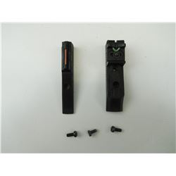 FRONT & REAR FIBER OPTIC RIFLE SIGHTS