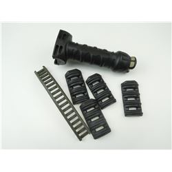 ASSORTED AR-15 RAIL COVERS & FRONT GRIP