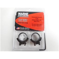 WARNE SCOPE MOUNTS PERMANENTLY ATTACHED RINGS