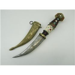 DAGGER WITH DECORATIVE SHEATH