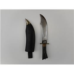 CEREMONIAL/ HUNTING DAGGER/KNIFE WITH SCABBARD