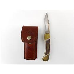 SCHRADE FOLDING KNIFE WITH SHEATH