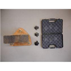 HARD HANDGUN CASE, HOMEMADE GUN REST & TRIGGER LOCKS