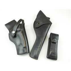 ASSORTED BLACK LEATHER HOLSTERS