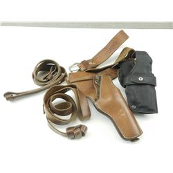 HOLSTER WITH BELT AND RIFLE SLINGS