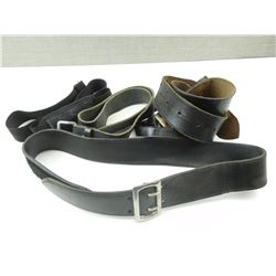 ASSORTED LEATHER BELTS AND RIFLE SLING