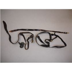 ASSORTED LEATHER BELTS AND SLINGS
