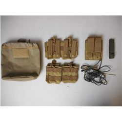 ASSORTED TACTICAL TYPE POUCHES